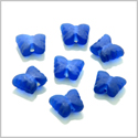 10 Pieces Sea Glass Ocean Blue Lucky Butterfly Beads Wholesale Components DIY Jewelry Making Arts