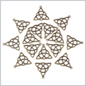 20 Pieces Celtic Triquetra Protection Lucky Charms Findings for Jewelry Pendant Necklace Making 30mm X 30mm