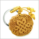 Amulet Celtic Shield Knot Lucky Coins Protection Magic Powers Charm Feng Shui Symbols Keychain Blessing
