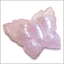 Amulet Rose Quartz Butterfly Gemstone Carving Healing and Love Powers Pocket or Desk Totem Good Luck Charm with Pouch