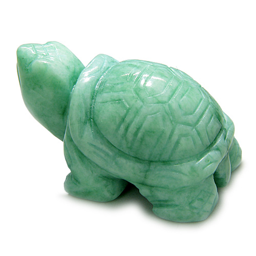 Gemstone lucky turtle carvings amulet green peace jade