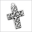 20 Pieces Cross Protection Powers Reversible Findings for Jewelry Pendants Necklaces Making 22 X 15mm