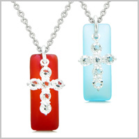 SEA GLASS CROSS JEWELRY