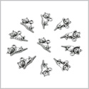 20 Pieces Cute Happy Cat Good Luck Charms Findings for Jewelry Pendants Necklaces Making 19 X 11mm