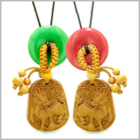 LUCKY DRAGON WOODEN Car Charms