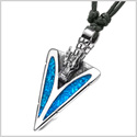 Arrowhead Courage Dragon Head Magic Powers Protection Amulet Simulated Turquoise Adjustable Necklace