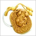 Amulet Courage Dragon Lucky Coins Protection Good Luck Powers Charms Feng Shui Symbols Keychain Blessing