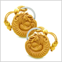 Amulet Courage Magical Dragon Good Luck Charms Protection Powers Feng Shui Symbols Keychain Set Blessings
