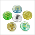 Inspirational Amulets Encouragement and Guardian Blessings Charms Glass Engraved Stones Set