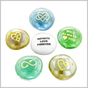 Inspirational Amulets Infinite Love and Romance Powers for Couples Lucky Charms Glass Engraved Stones Set