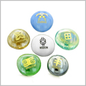 Inspirational Amulets Ancient Powerful Symbols Self Confidence Encouragement Glass Engraved Stones Set