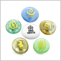 Inspirational Amulets Ancient Powerful Symbols Love and Romance Spirits Glass Engraved Stones Set