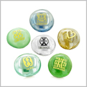 Inspirational Amulets Ancient Symbols Self Esteem Encouragement Patience Powers Spirits  Glass Engraved Stones Set