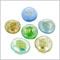 Inspirational Amulets Best Friends Forever BFF Appreciation Lucky Charms Glass Engraved Stones Set