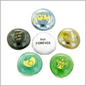 Inspirational Amulets Remembrance and Grievance Spiritual Powers Charms Glass Engraved Stones Set