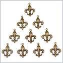 20 Pieces Fleur De Lis Lucky Magical Charms Finding for Jewelry Pendants Necklace Making 28mm X 20mm