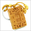 Amulet Good Luck Charm Tablet  Magic Powers Feng Shui Symbols Keychain Blessing