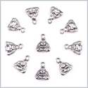 20 Pieces Happy Sitting Buddha Lucky Charms Findings for Jewelry Pendants Necklace Making 10mm X 9mm
