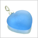 10 Pieces Sea Glass Beads Cloud Blue Lucky Heart Charms Wholesale Components DIY Jewelry Making Arts