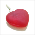 10 Pieces Sea Glass Beads Royal Red Lucky Heart Charms Wholesale Components DIY Jewelry Making Arts