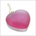 10 Pieces Sea Glass Beads Royal Pink Lucky Heart Charms Wholesale Components DIY Jewelry Making Arts