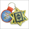 Holy Land Genuine Gemstones Amulet King of Solomon Star Psalms Tehillim Pass Book Natural Wooden Keychain Lucky Charm