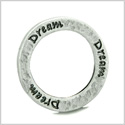 10 Pieces DIY Hammered Brass Reversible Inspirational Rings Stamped Dream Word 20mm Circles Lucky Charms