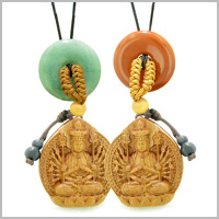 KWAN YIN QUAN FORTUNE WOODEN Car Charms