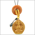 Kwan Yin Quan Fortune Car Charm or Home Decor Red Jasper Lucky Coin Donut Protection Powers Amulet