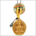 Kwan Yin Quan Fortune Car Charm or Home Decor Dragon Eye Iron Lucky Coin Donut Protection Power Amulet