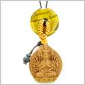 Kwan Yin Quan Fortune Car Charm or Home Decor Tiger Eye Lucky Coin Donut Protection Powers Amulet