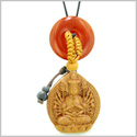 Kwan Yin Quan Fortune Car Charm or Home Decor Carnelian Lucky Coin Donut Protection Powers Amulet