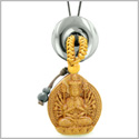 Kwan Yin Quan Fortune Car Charm or Home Decor Hematite Lucky Coin Donut Protection Powers Amulet