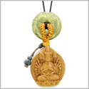 Kwan Yin Quan Fortune Car Charm or Home Decor Golden Pyrite Iron Lucky Coin Donut Protection Powers Amulet