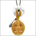 Kwan Yin Quan Fortune Car Charm or Home Decor White Howlite Lucky Coin Donut Protection Powers Amulet