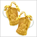Amulet Praying Kwan Yin Quan Blooming Lotus Magic Powers Charms Feng Shui Symbols Keychain Set Blessings