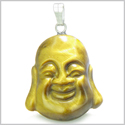 Amulet Happy Laughing Buddha Lucky Charm Tiger Eye Gemstone Evil Eye Protection Powers Pendant