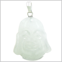 Amulet Happy Laughing Buddha Lucky Charm White Jade Gemstone Evil Eye Protection Powers Pendant