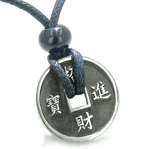 Chinese Good Luck Pendants Amulet Lucky Coin Charm Donut