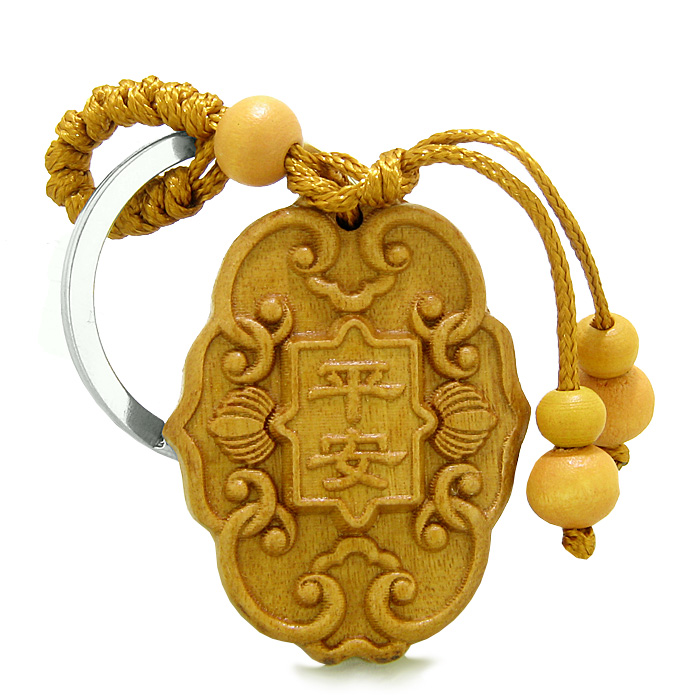 Sandal Wood Feng Shui Keychains Amulet Lucky Charm Magical And