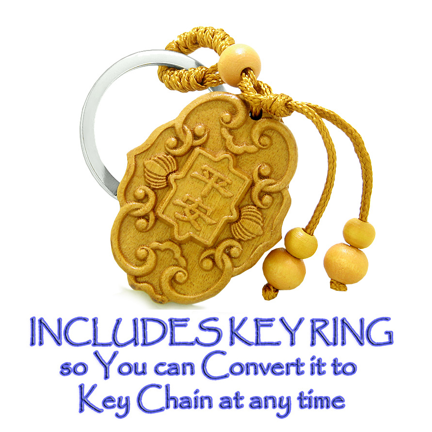 Good Luck Charm Wooden Car Charms Feng Shui Lucky Symbols Car