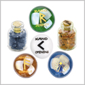 Ancient Runes Journey Raido Kano Ansuz Focus Inspirational Amulets Glass Stones Goldstone Bottles Set