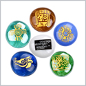 Mayan Magical Kingdom Courage Joy Love Wisdom Good Luck Focus Inspirational Amulets Glass Stones Set