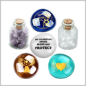 Archangel Raphael Sigil Guardian Angel Blessings Inspriational Amulet Glass Stone Amethyst Quartz Bottles