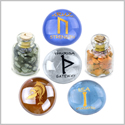 Ancient Runes Self Confidence Isa Uruz Thurisa Amulets Glass Stones Jasper Snowflake Obsidian Bottles Set