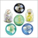 Reiki Magical Healing Spirit Strength Protection Inspirational Amulets Glass Stones Citrine Fluorite Set