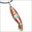 Amulet Ancient Tibetan All Seeing Buddha Eye and Mantra Om Mani Padme Hum Turquoise Magic Symbol Fish Shape Tag Pendant Necklace