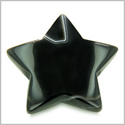 Amulet Magic Five Pointed Star Crystal Carving Black Onyx Gemstone Spiritual Protection Powers Individual Keepsake Totem
