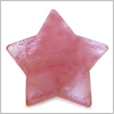 Amulet Magic Five Pointed Star Crystal Carving Cherry Quartz Gemstone Protection and Healing Powers Individual Keepsake Totem