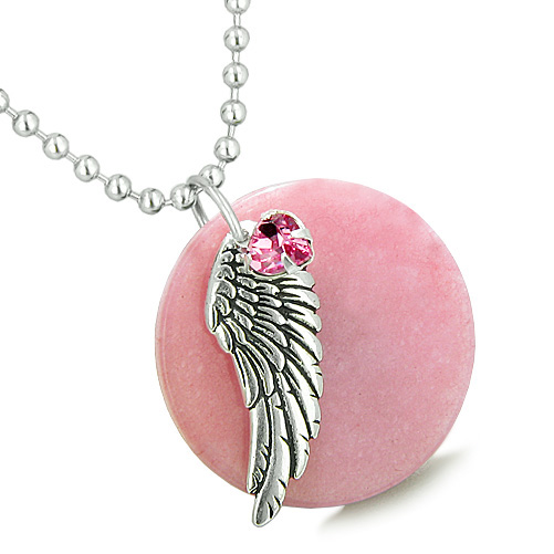 Lucky Angel Charms Amp Totems Amulet Angel Wing Pink Jade